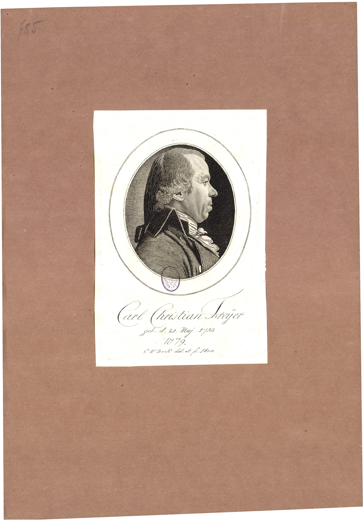 Carl Christian Freyer geb. d. 21. Maj 1754