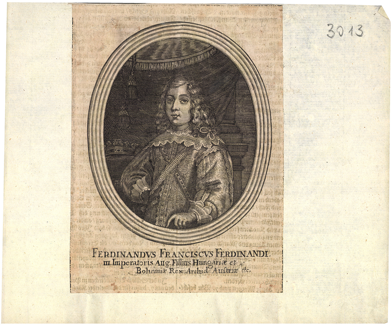 Ferdinandus Franciscus Ferdinandi III. Imperatoris Aug Fillius...