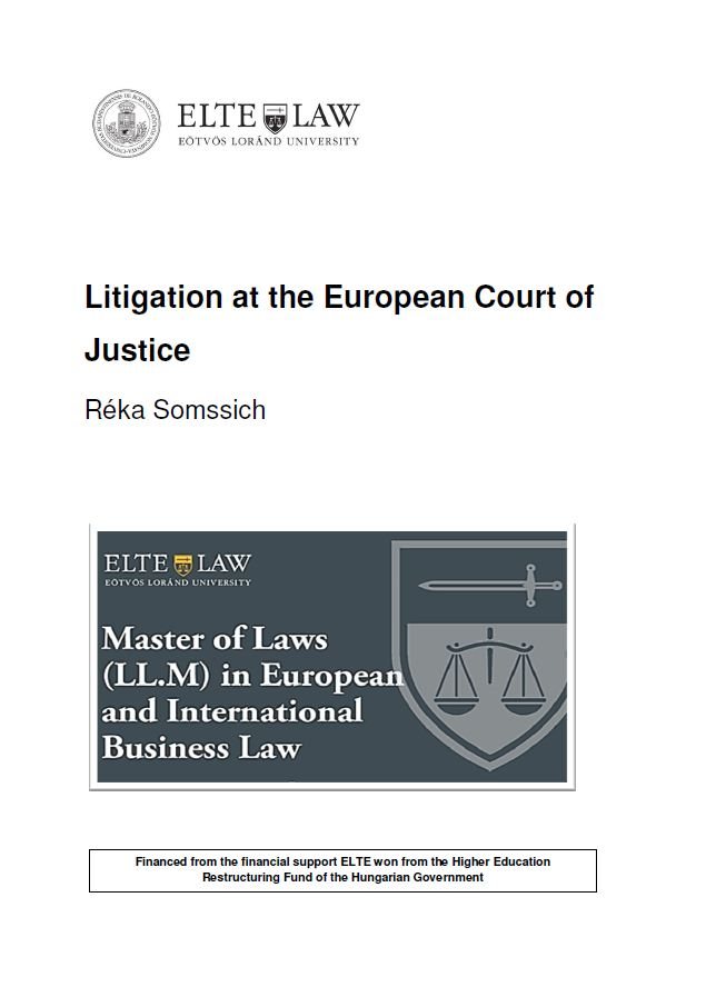 Litigation at the European Court of Justice