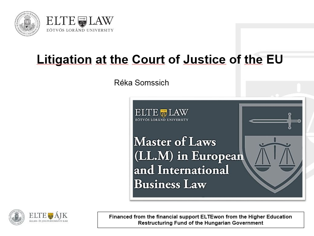 Litigation at the Court of Justice of the EU