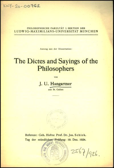 The Dictes and Sayings of the Philosophers