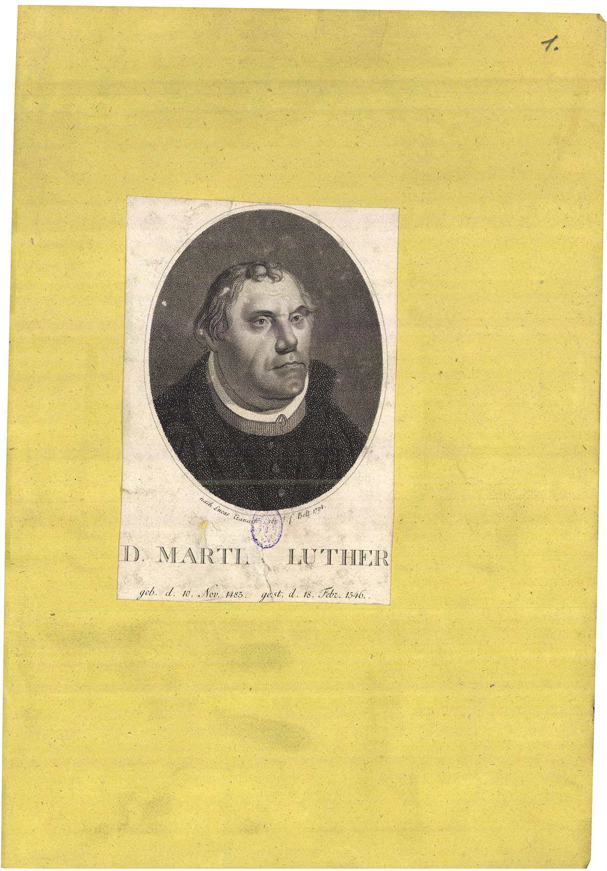 D. Martin Luther