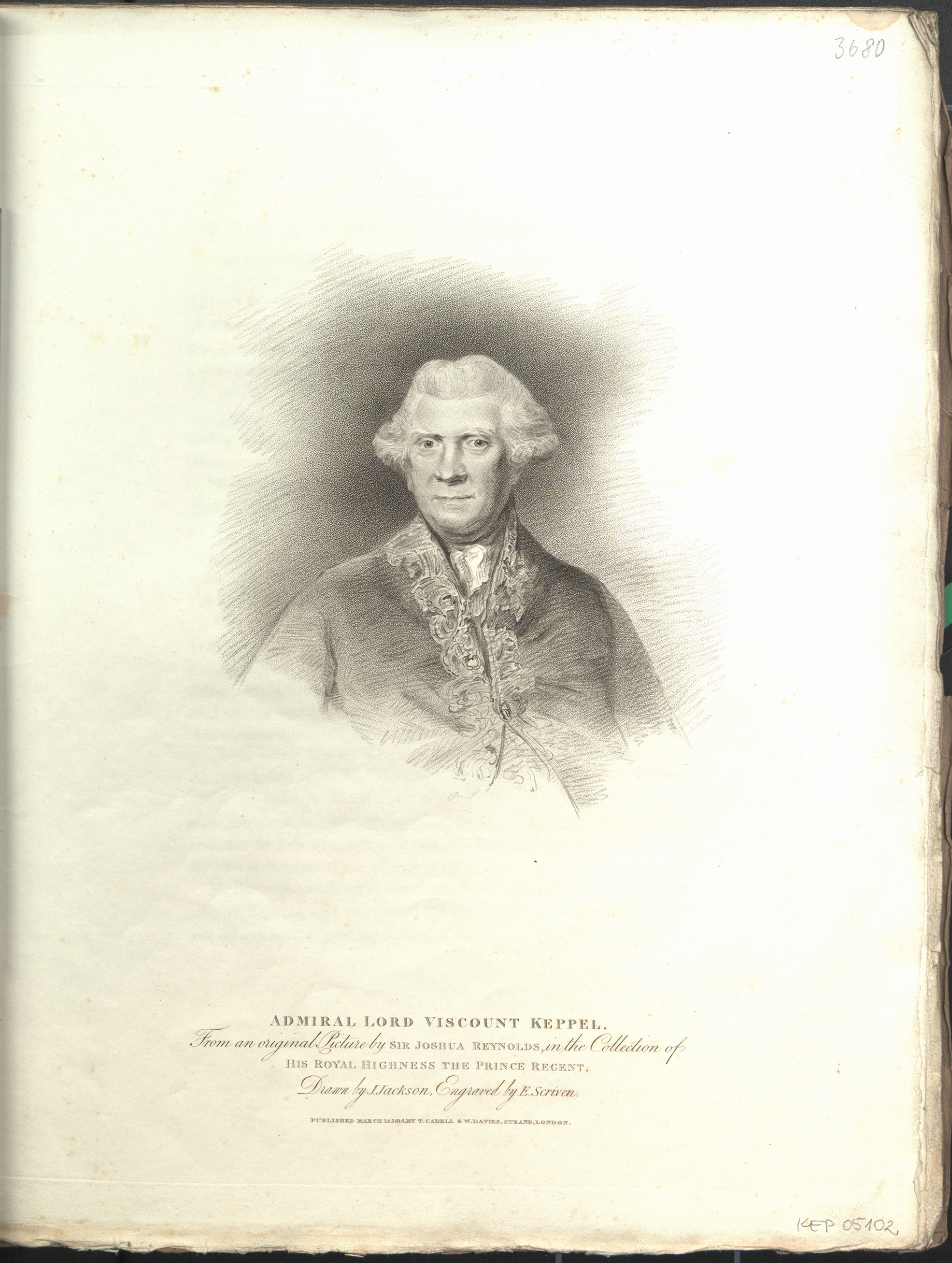 Admiral Lord Viscount Keppel.