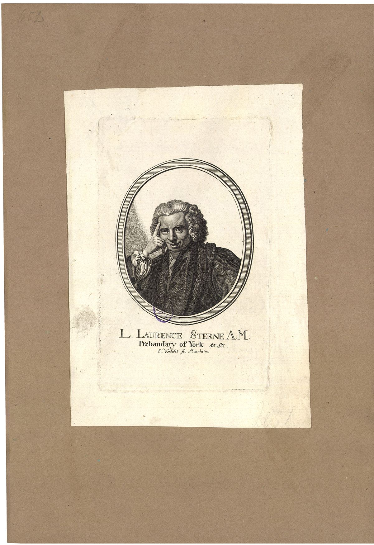 L. Laurence Sterne A. M. Prebandary of York