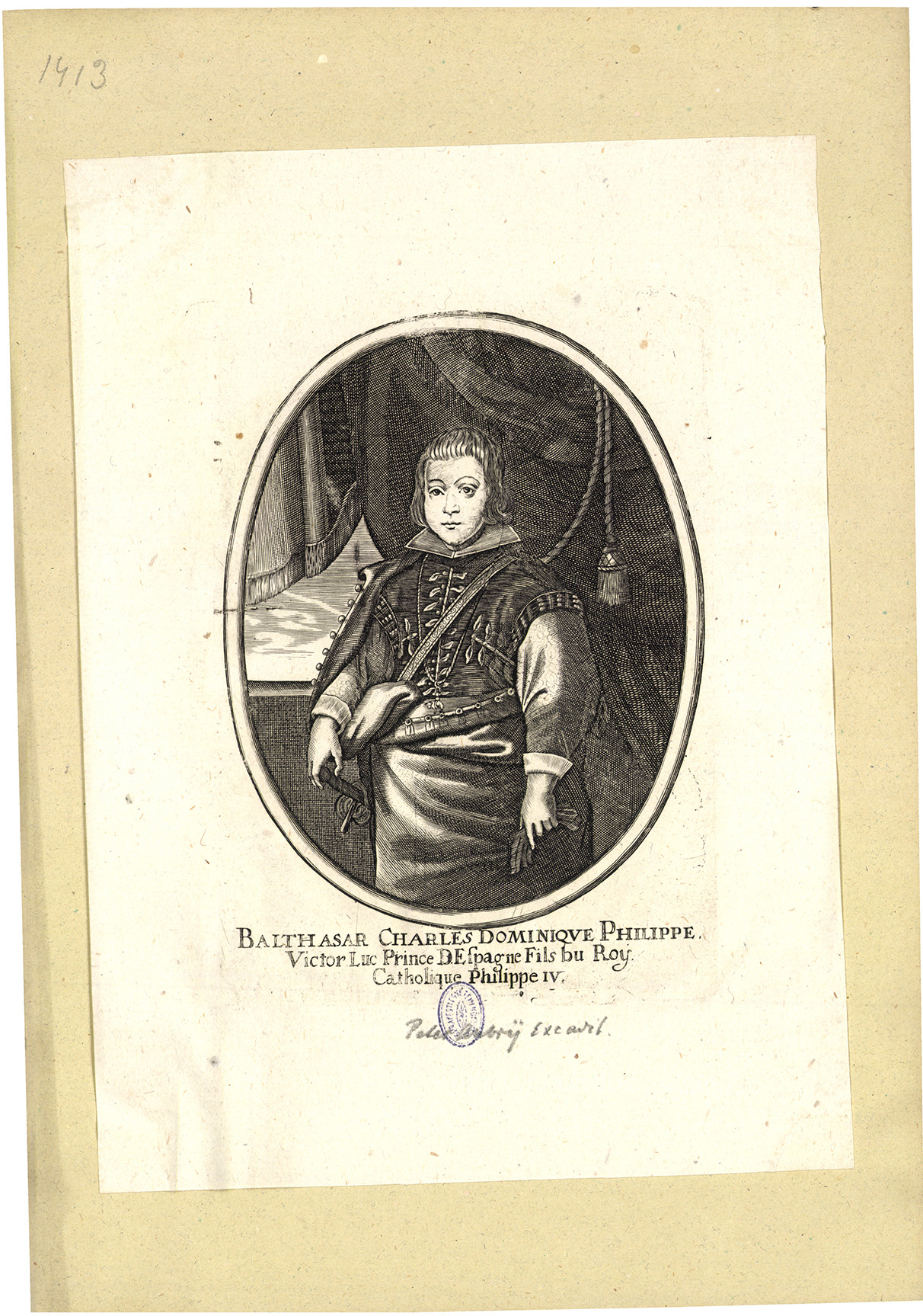 Balthasar Charles Dominique Philippe Victor Luc Prince DEspagne fils du Roy