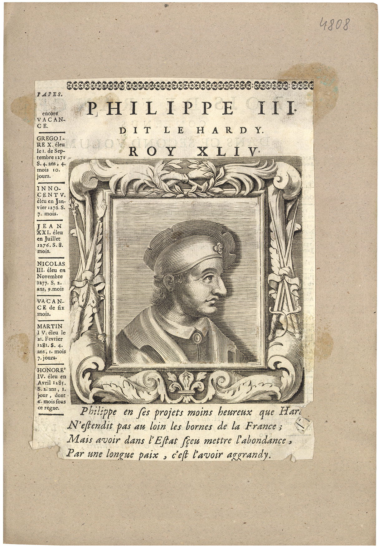 Philippe III., dit Le Hardy, roy XLIV.