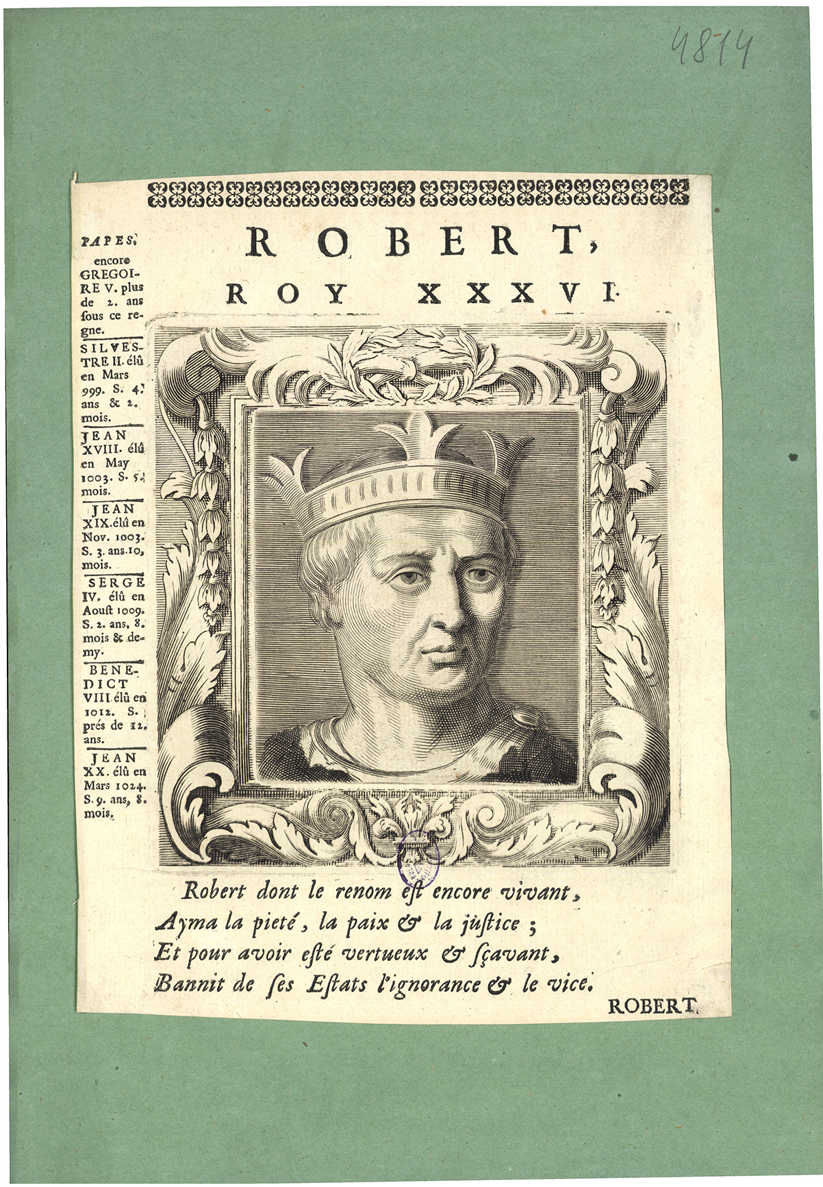 Robert, roy XXXVI.