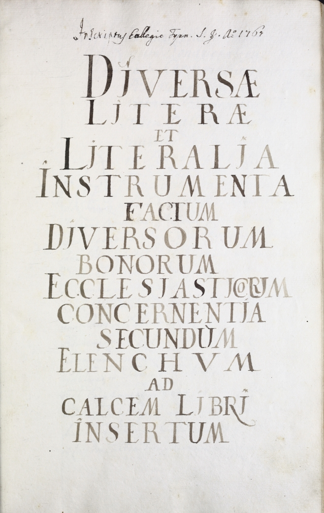 Elenchus litterarum in hoc libro conten.