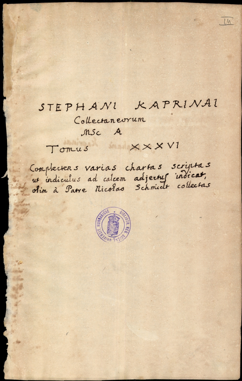 Humillima instantia ad Mariam Theresiam, P. Andreae Patay, coll. Tyrnav. S. J. rectoris, pro non res ...