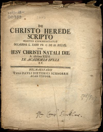 De Christo herede scripto