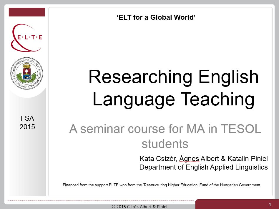 Researching English Language Teaching