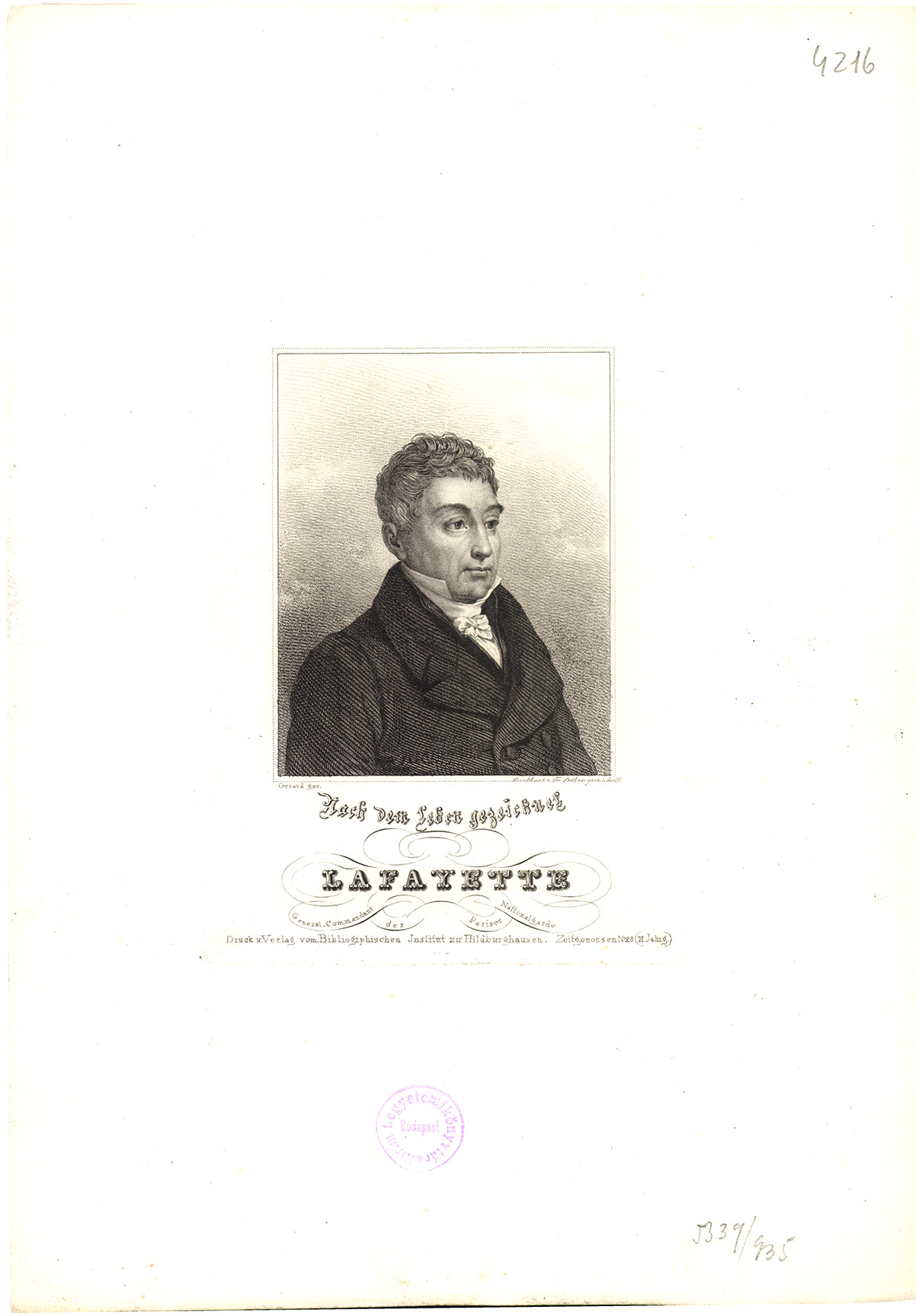 Lafayette, General Commandant der Pariser Nationalgarde