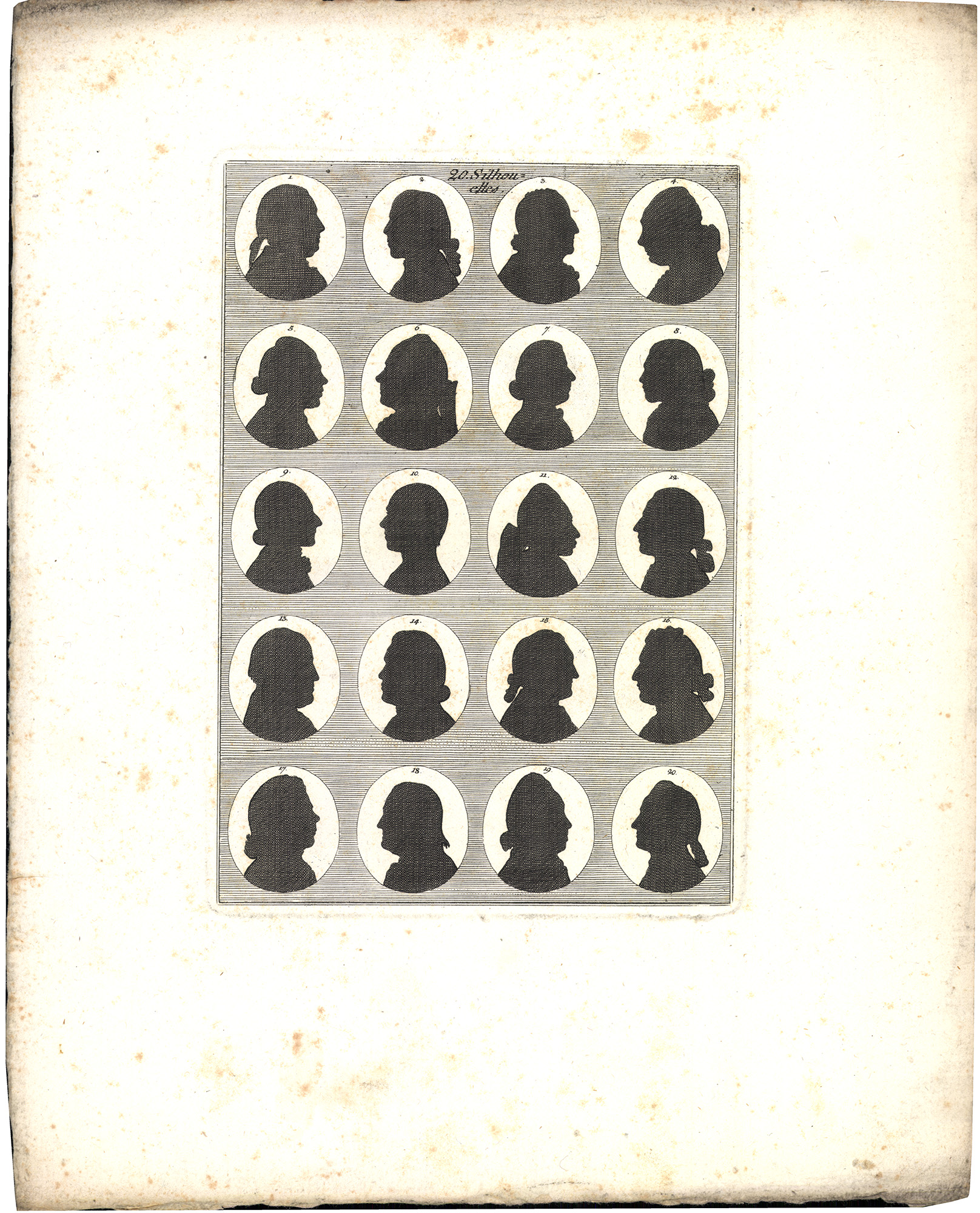 20 silhouettes