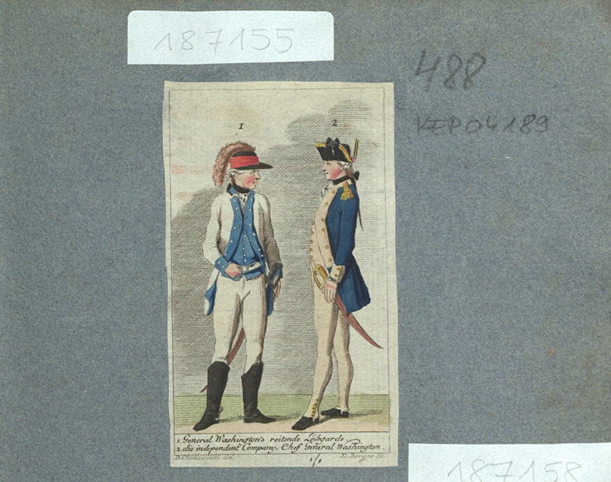 1. General Washington´s reitende Leibgarde. 2. die independent Company, Chef General Washington.